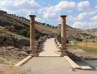 Severan Bridge - Roadway flanked by ancient columns