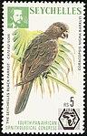 Seychelles black parrot 1976 stamp.jpg