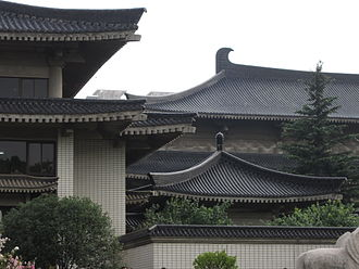 Shaanxi History Museum - Detail of the museum's architecture