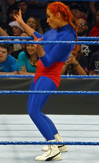Becky Lynch - Lynch posing as La Luchadora in December 2016 during her feud with Alexa Bliss