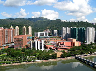 Transit-oriented development - Sha Tin town centre, built around the Sha Tin railway station