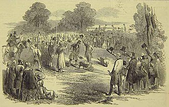 Sheffield and Lincolnshire Junction Railway - Cutting the first sod of the railway, in 1846