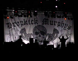 "Dropkick Murphys - During the band's 2010 tour, a special pirate-themed backdrop was unfurled during the encore performance of ""I'm Shipping Up to Boston""."