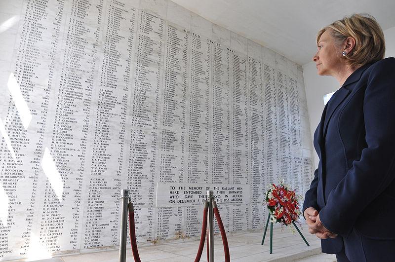 Hillary Rodham Clinton at the USS Arizona Memorial