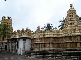 Shveta Varahaswami Temple in the Mysore palace grounds, a rear profile.JPG