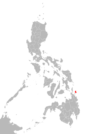 Siargao - Siargao Island in relation to the Philippines