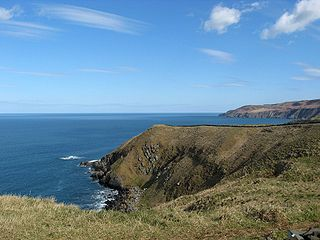 Siccar Point peninsula in Scottish Borders, Scotland