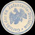 Siegelmarke Gericht der 88. Infanterie - Division W0210842.jpg