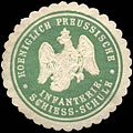 Siegelmarke Koeniglich Preussische Infanterie Schiess - Schule W0210854.jpg