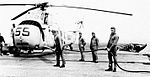 Sikorsky HSS-1 of HS-3 is refueled aboard USS Valley Forge (CVS-45) in 1960.jpg