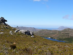 Silvermine National Reserve with on the right hand side the Silvermine reservoir