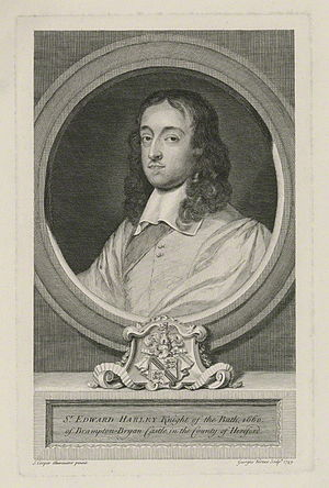 Edward Harley (Parliamentarian) - Sir Edward Harley, 1749 engraving