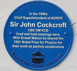 Sir john cockroft plaque