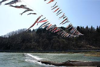 Mogami River - Image: Sirataka Mogami River 2009