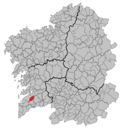 Situation of Mos within Galicia