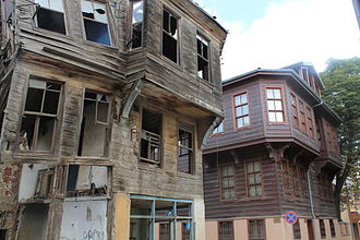 Tekirdağ - Historic Ottoman wooden houses.