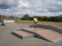 A concrete and steel funbox.