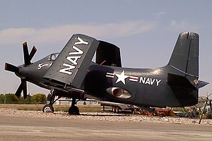 Douglas A2D Skyshark - Douglas A2D-1 Skyshark BuNo. 125485 (seventh of 10 prototype a/c) at Idaho Falls Regional Airport