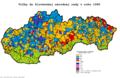 Slovensko parlamentné voľby 1990 obce.png
