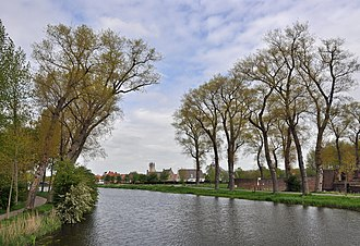 Napoleon in Holland - Sluis (the Netherlands): Damme canal, also called Napoleon Canal