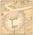 Smålenenes amt nr 44-a- Declineations Carte af Fridrichstad Fæstning, 1750.jpg