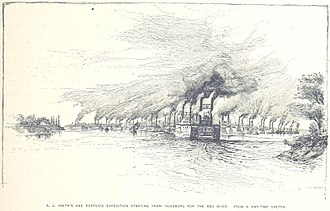 Red River Campaign - Porter and Smith's expedition leaves Vicksburg
