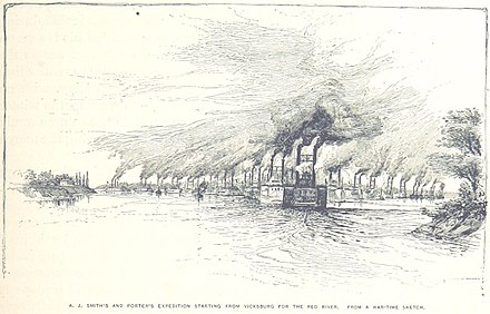 Porter and Smith's expedition leaves Vicksburg Smith's and Porter's Expedition.jpg