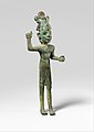 Smiting god, wearing an Egyptian atef crown MET DP368653.jpg