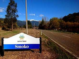 Smoko, Victoria - Entering Smoko