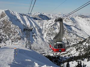 Snowbird, Utah - Image: Snowbird Tram at Hidden Peak