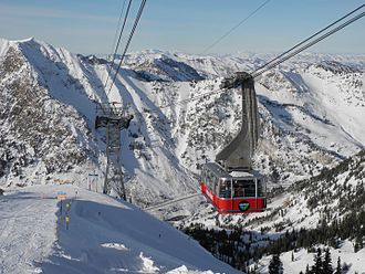 Snowbird, Utah - Image: Snowbird Tram at Hidden Peak