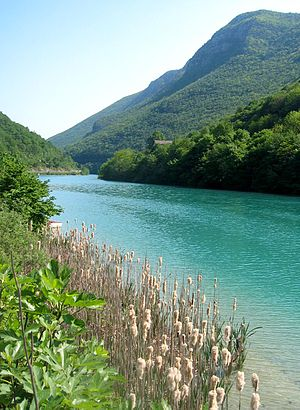 Solkan - The Soča River near Solkan