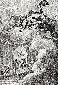 François Elluin, Sodomites provoquant la colère divine, dans Le pot-pourri (1781)
