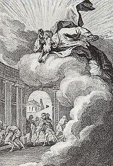 """François Elluin, Sodomites provoking the wrath of God, from """"Le pot pourri de Loth"""" (1781)."""