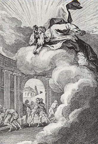 Sodomy - François Elluin, Sodomites provoking the wrath of God, from Le Pot-Pourri de Loth, 1781