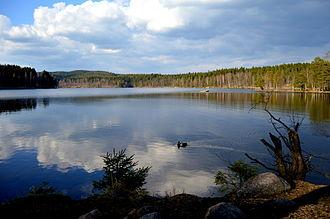 Sognsvann - The lake in April 2014