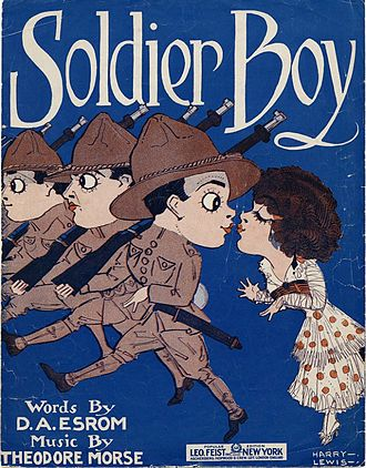 Soldier Boy (1915 song) - Image: Soldier Boy (1915 song) cover