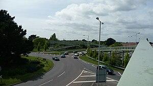 Somerford, Dorset - Image: Somerford Roundabout bridges