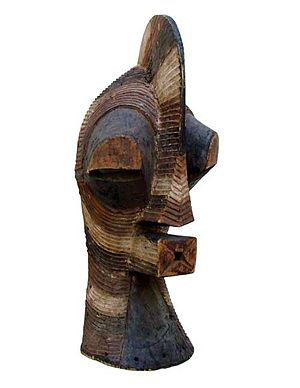 Tribal art - A male Kifwebe mask. Songye tribe. D.R. Congo. Central Africa