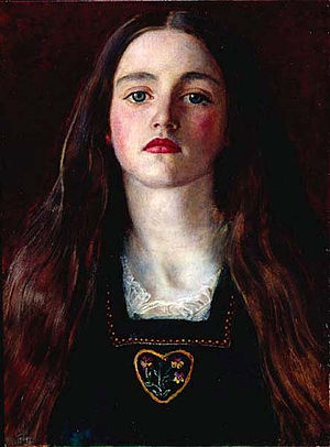 Sophy Gray (Pre-Raphaelite muse) - Portrait of a Girl, Millais' 1857 painting of Sophy Gray