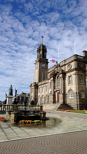 South Shields - The Edwardian Town Hall, built at a time of industrial self-confidence.
