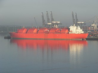 Gas carrier - Moss type LNG tanker