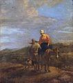 Southern landscape with peasants and a mule by Adriaen van der Kabel.jpg