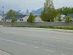 Southwest bound bus stop across from 4800 W Old Bingham Hwy station, Apr 16.jpg