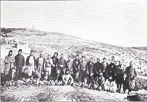 Historical Jewish population comparisons - Photograph of Spanish Jews in 19th century taken from 1899 book Views from Palestine and its Jewish colonies.
