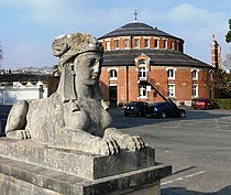 Sphinx and Rotunda, Oldway Mansion, Paignton - geograph.org.uk - 699469.jpg
