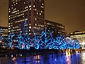 Square near the London Eye decorated for Christmas, South Bank - geograph.org.uk - 1600263.jpg