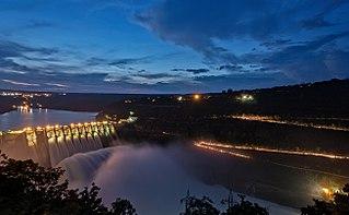 dam in Sri Sailam, Kurnool district, Andhra Pradesh, India
