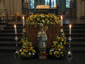 Altfrid - Saint Altfrid's relics on display in Essen Cathedral on his feast day