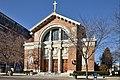 St. Joseph Catholic Church, Dayton, Ohio, facade from the southeast.jpg